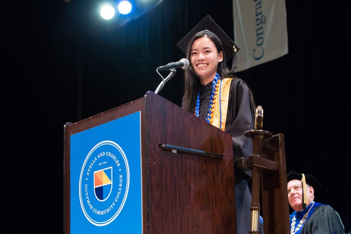 Tuya Yang, Class of 2016 Valedictorian