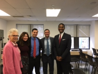 (L to R): Linda Merians, Guttman; Judy Dimon; Nat Modica, Vice President, Branch Manager, 60 East 42nd. St.; Christopher Cavileer, Assistant Vice President, Private Client Banker, 386 Park Avenue South; and Jesse Jackson, Chief Learning Officer, Consumer and Community Banking