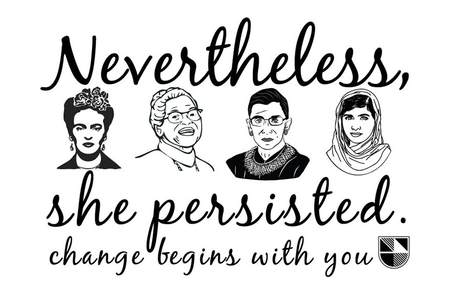 Women's History Month: Nevertheless, She Persisted logo