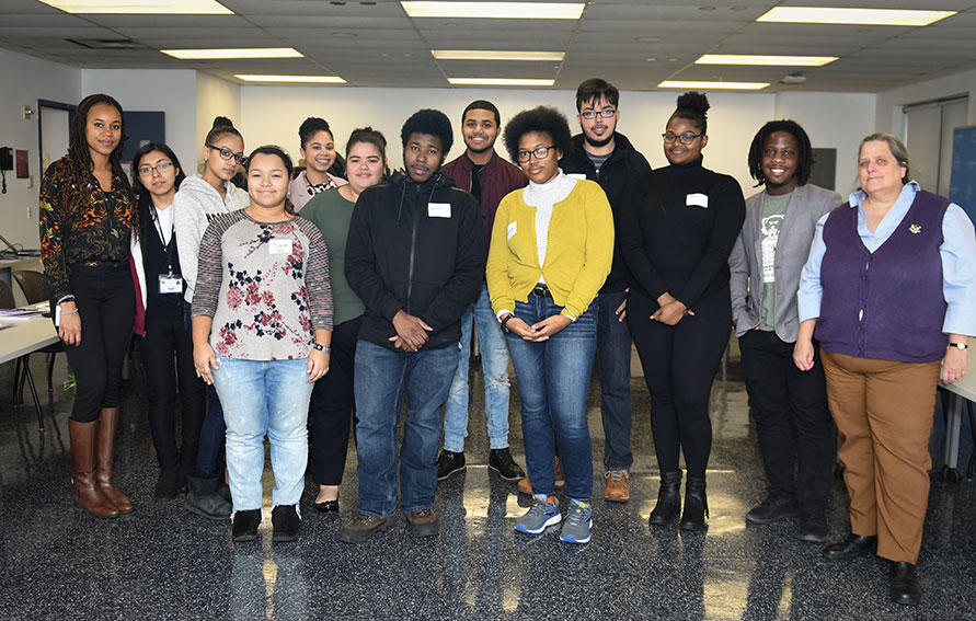 Students at the Career Exploration Challenge kick-off event