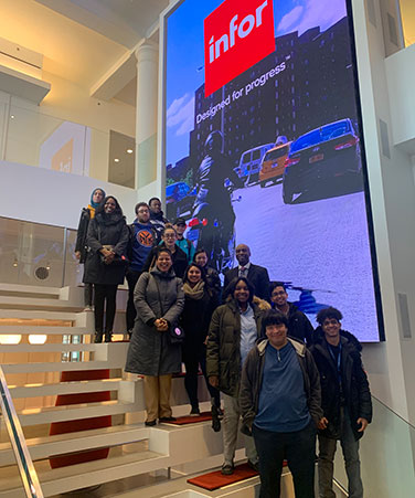 Guttman students at Infor headquarters