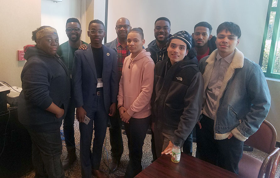 Guttman students and Dr Allen at the Interdisciplinary Conference on Race at Monmouth University.