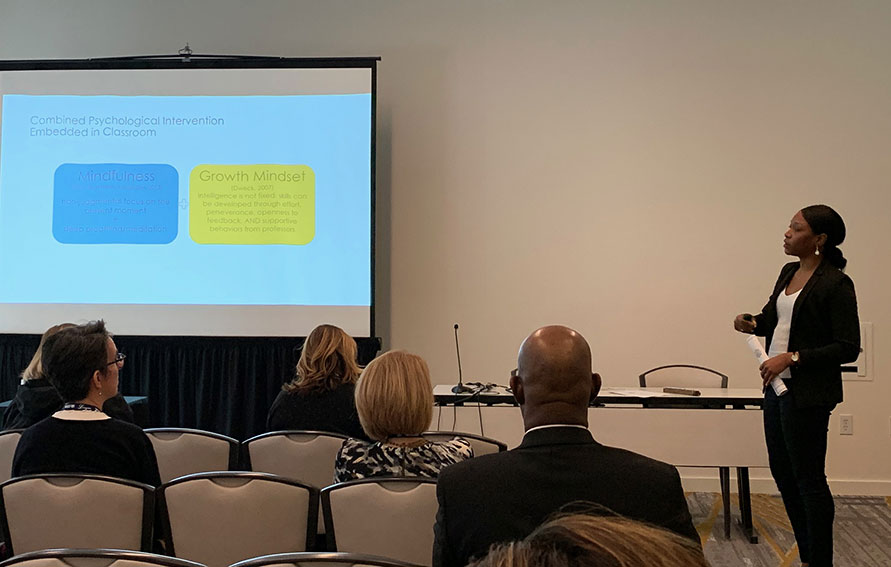 Dr. Samuel presenting at the 2020 Innovations Conference in Seattle, WA