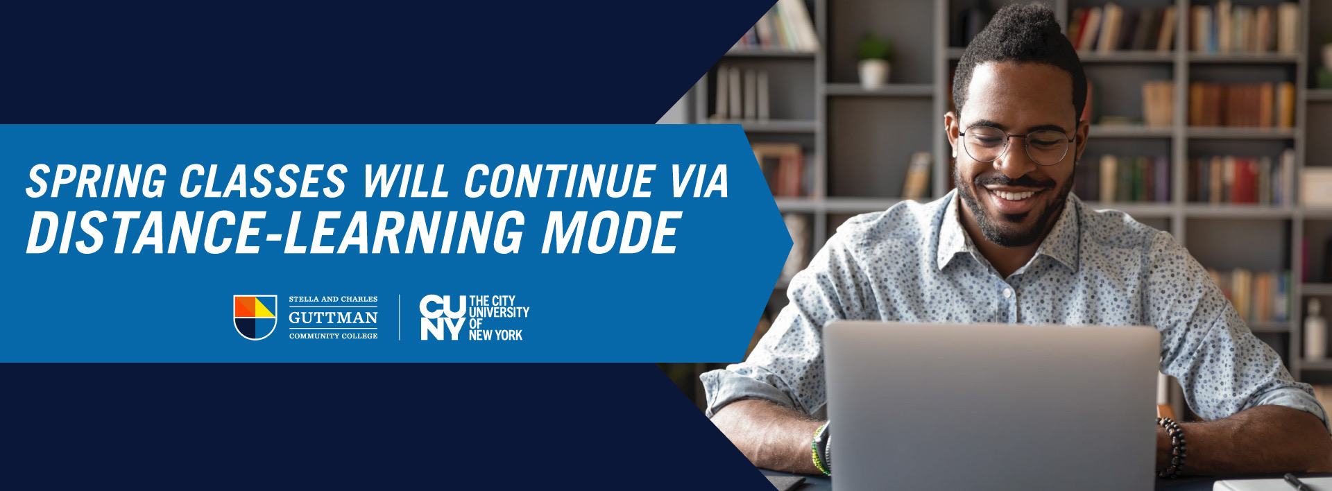 Spring Classes Will Continue via Distance-Learning Mode