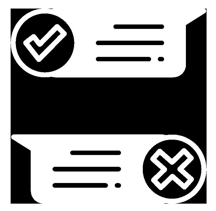 Icon representing survey results