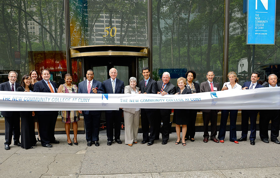 New Community College Ribbon Cutting Ceremony featuring CUNY Administrators