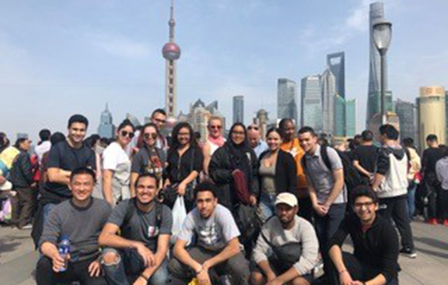 group of Global Guttman students in Shanghai