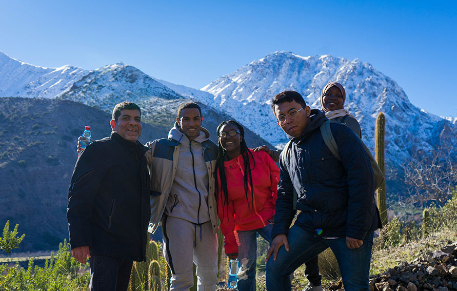Students in the mountains of Chile