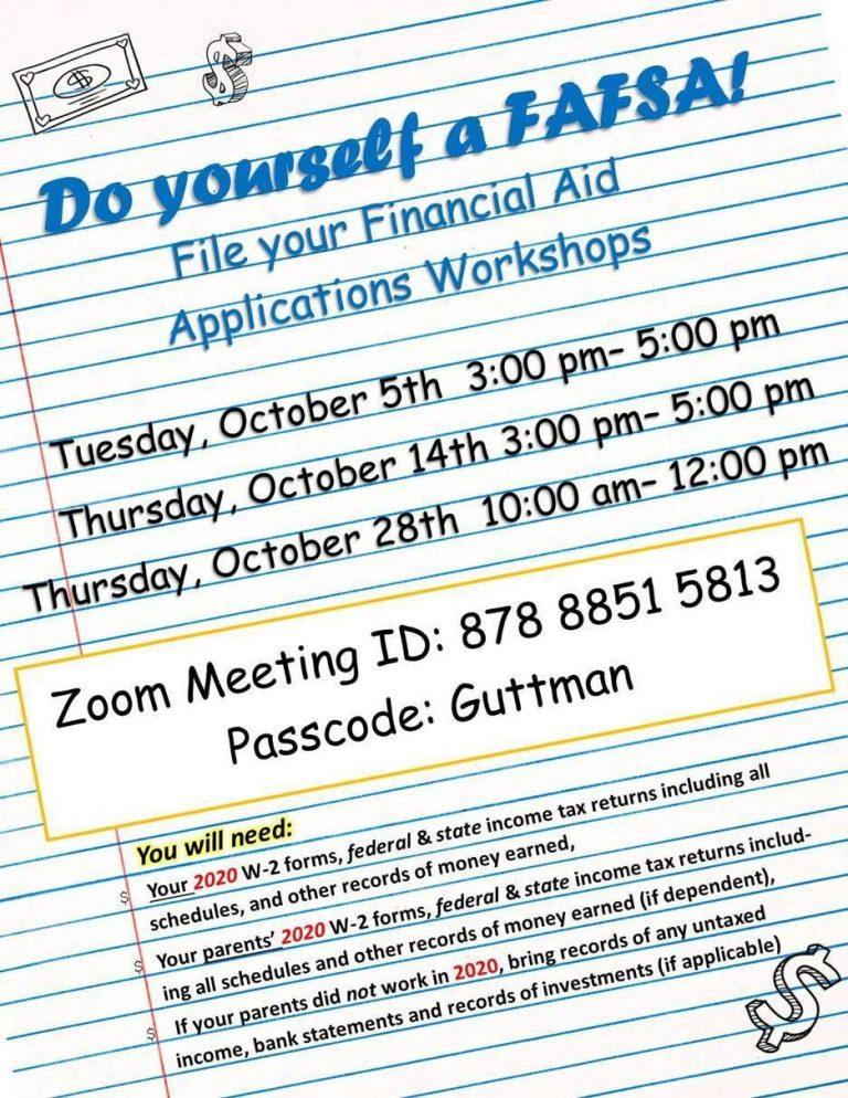 Financial Aid Workshop Flyer_October