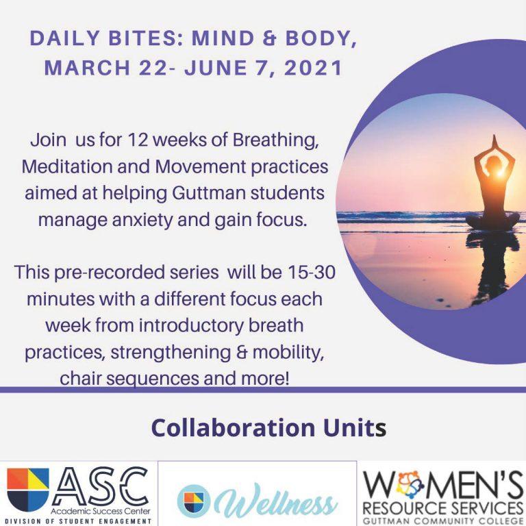 Daily Bites: Mind Body flyer