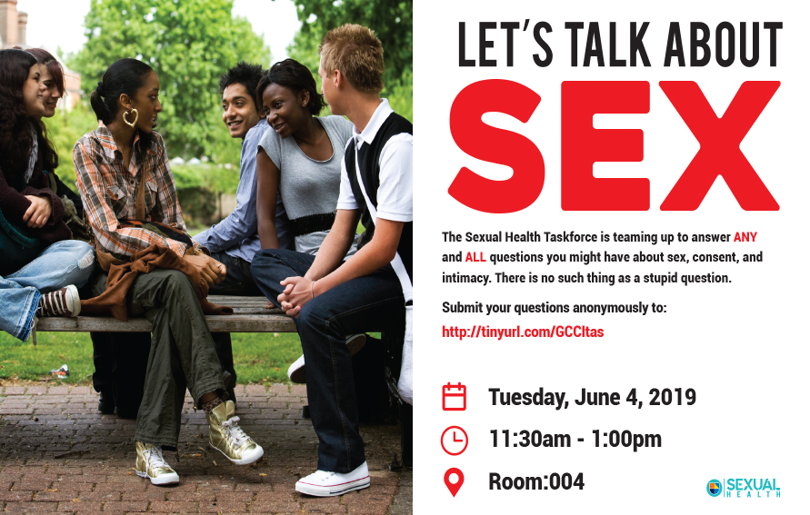 Let's Talk About Sex, June 4th at 11:30 am in room 004