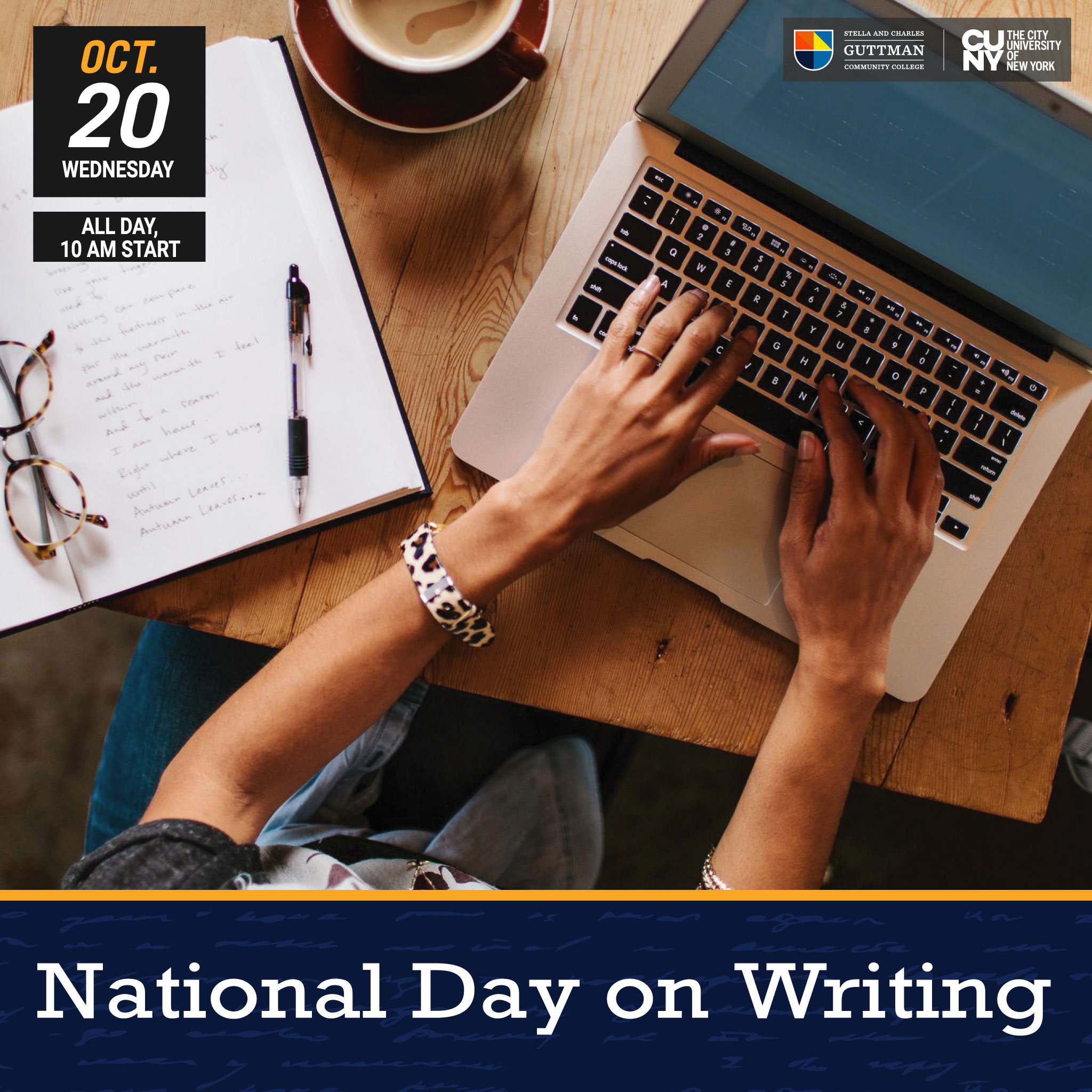 National Day on Writing - Wednesday, October 20
