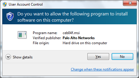 Do you want to allow the following program to install software on this computer?