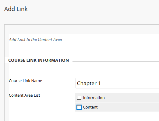 Add Link to Course details screen