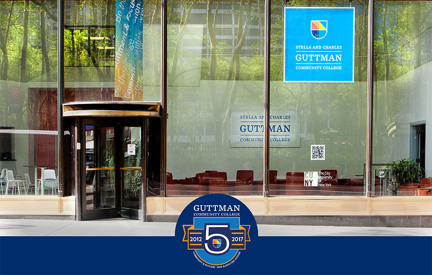 Guttman Community College Front Window