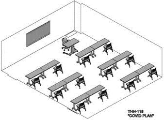 Classroom arrangement - COVID plan 1
