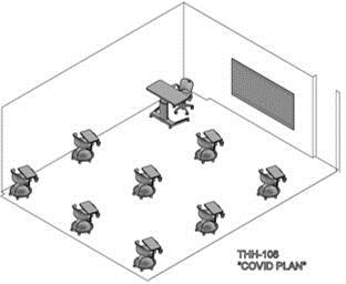 Classroom arrangement - COVID plan 2