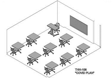 Classroom arrangement - COVID plan 3