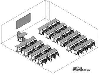 Classroom arrangement - Existing Plan 1