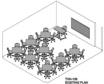 Classroom arrangement - Existing Plan 3