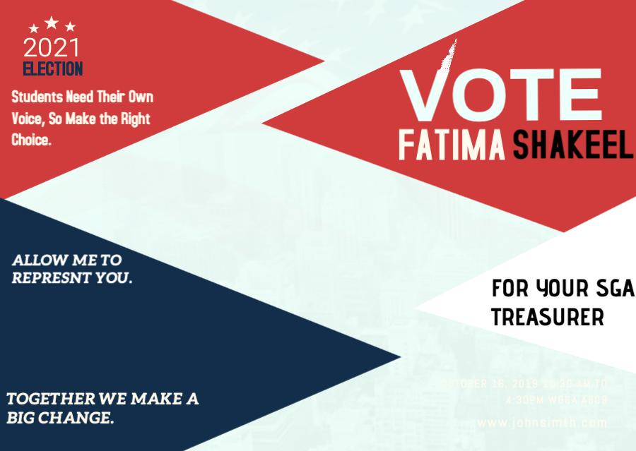 Fatima for Treasurer