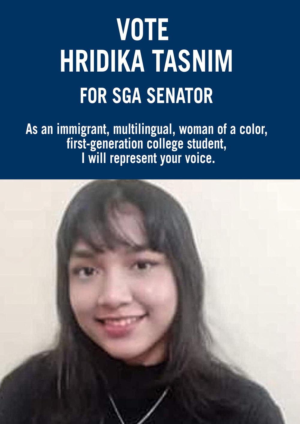 Hridika for Senator