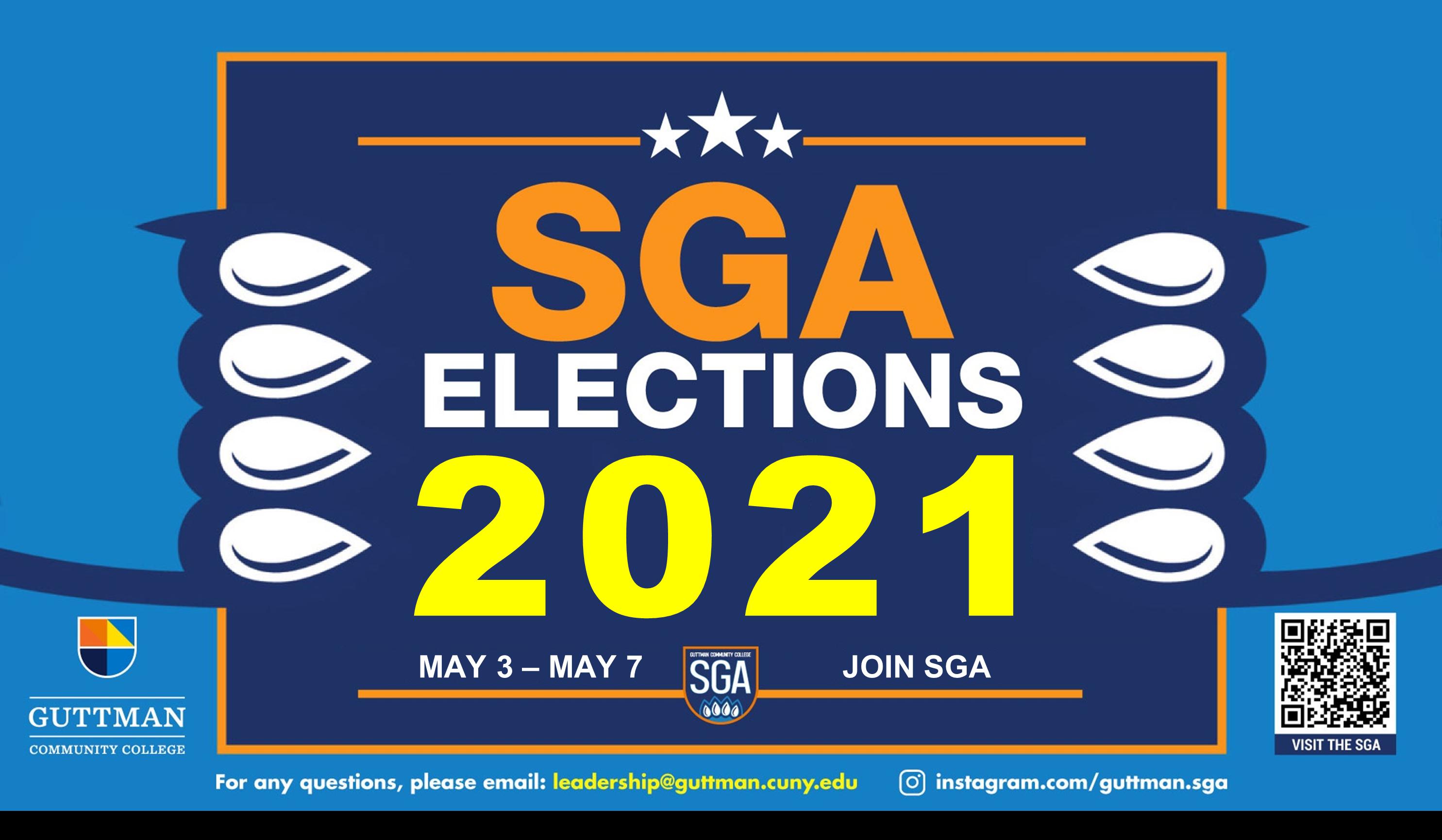 GCC SGA Elections, May 3-May 7