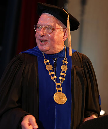 President Evenbeck at 2017 Commencement ceremony