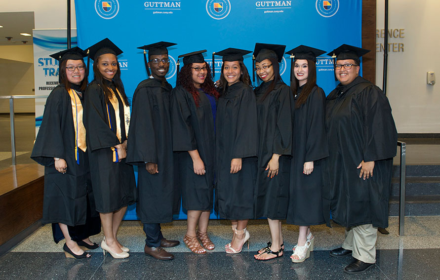 Group of grad at Inaugural Commencement ceremony
