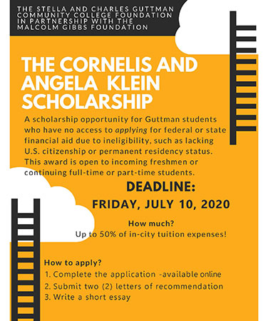 Klein Scholarship flyer