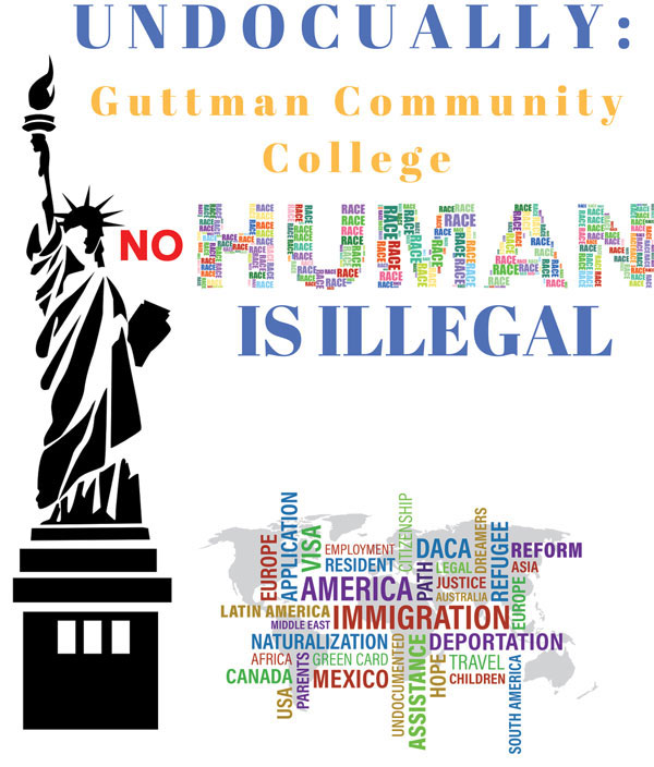 Undocually: Guttman Community College. No Human is Illegal