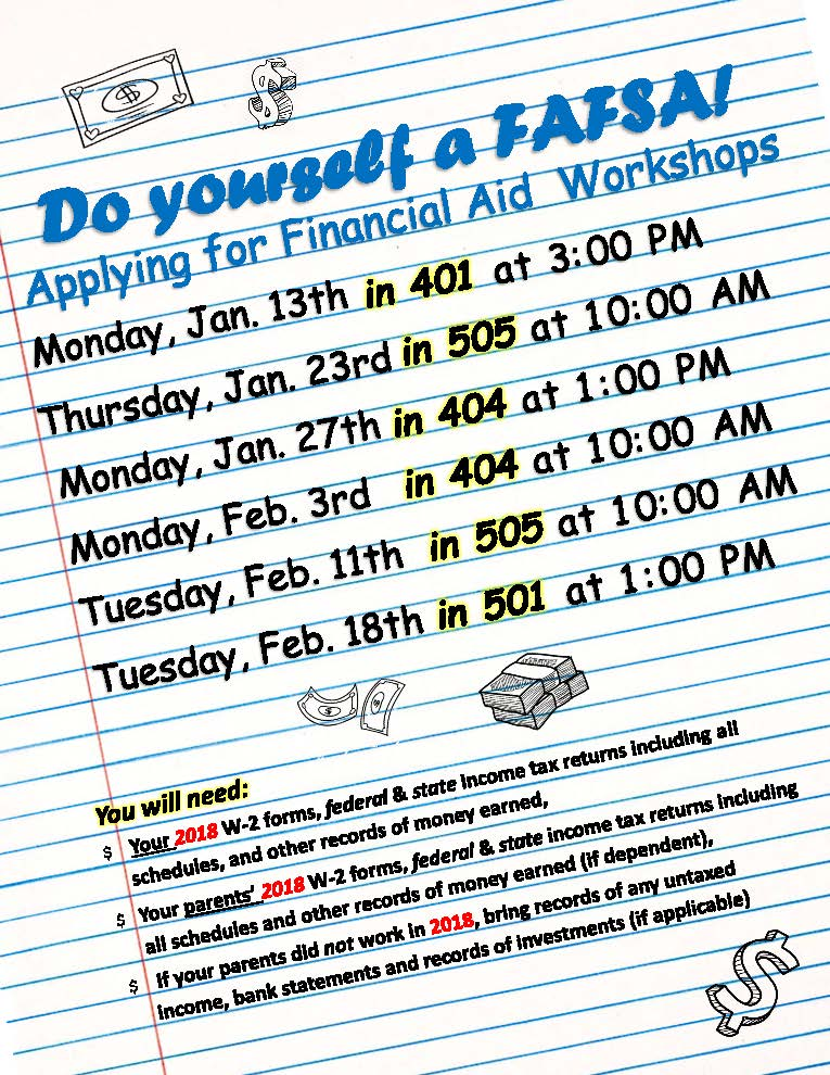 Financial aid workshop dates