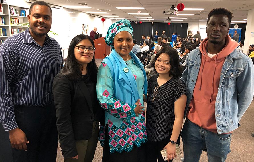 Amadou Diaallo Scholarship recipients with Mrs. Diallo