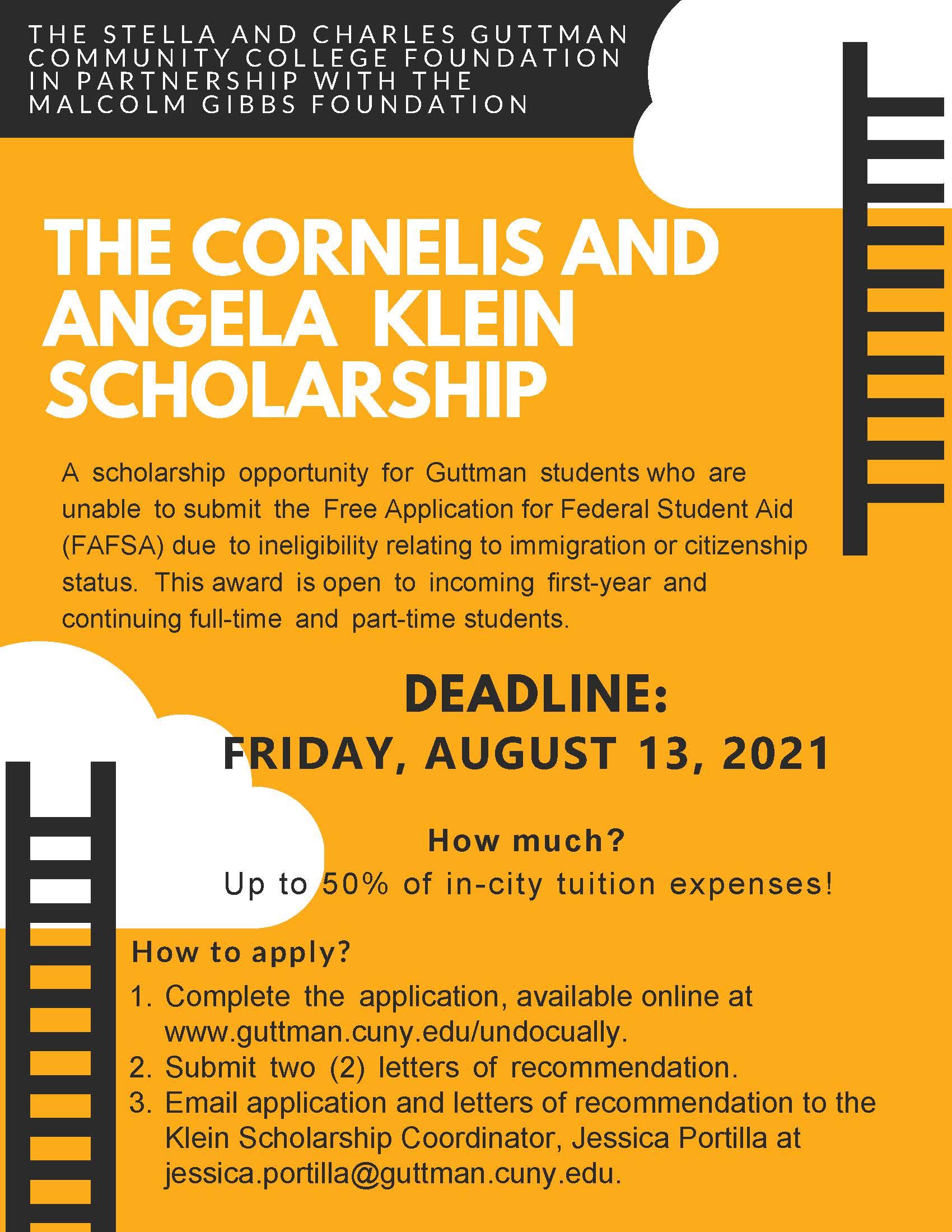 Klein Scholarship Flyer