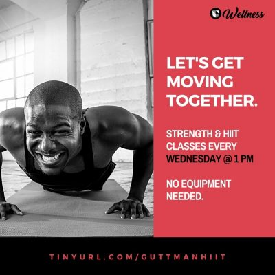 Strength & HIIT classes every Wednesday at 1
